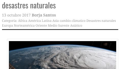 Cuatro prioridades para evitar más desastres naturales | borjasantosporras.org